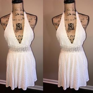 Free People So Sweetly White Halter Dress